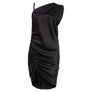 NEW T by Alexander Wang Ruched Asymmetrical Dress